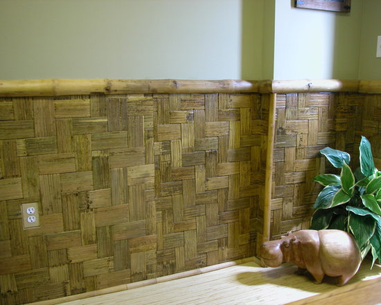 "Decorative Boards - Wide Weave Bamboo Board is made from the exterior layer of a bamboo pole and cut into approximately 2"" strips. These strips are then pressed together in an L-shape pattern to form a Wide Weave Bamboo Board."