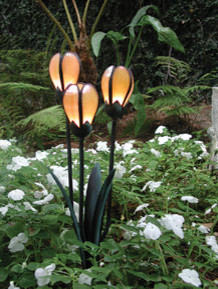 Tulip Cluster Bronze Landscape Lighting eclectic outdoor lighting