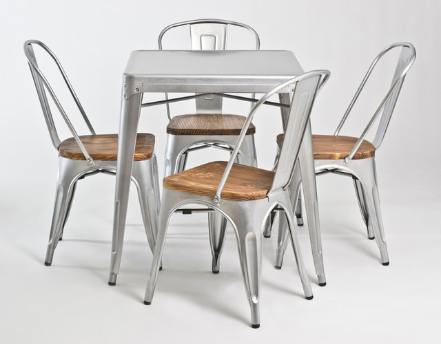 Metal Dining Chairs Industrial The Hippest Galleries
