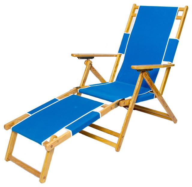 Sunrise Beach Chair & Footrest Pacific Blue Beach
