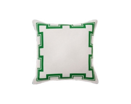 Atlas Pillow, Kelly - The green Greek key would be a great way to add a little holiday color into your living space.