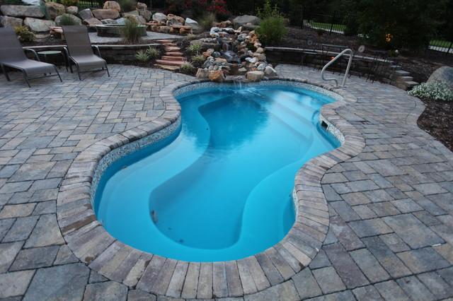 fiberglass pools eclectic-patio