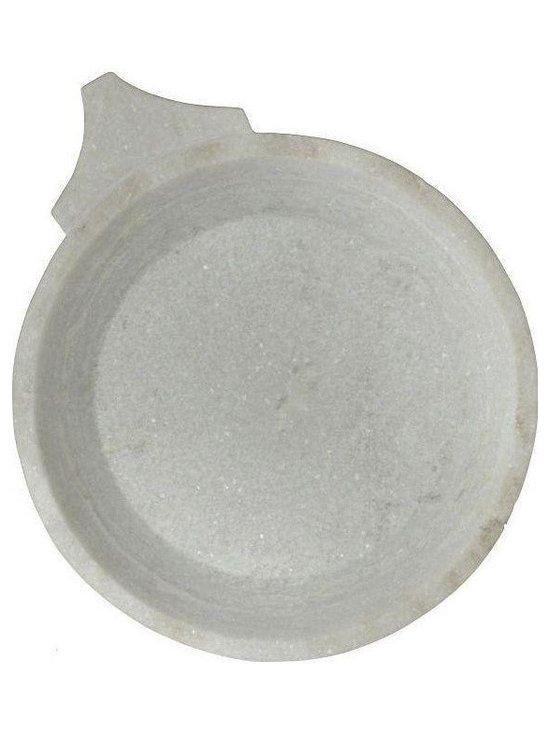 White Marble Platter from India - $300 Est. Retail - $150 on Chairish.com -