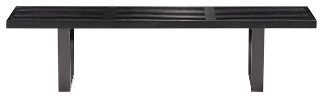 Zuo Heywood Triple Black Bench contemporary-indoor-benches