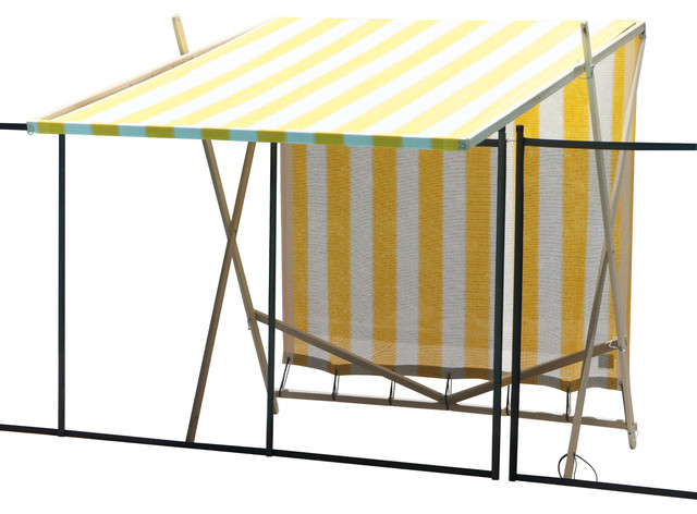 Shark Shade Portable Shade Blue and Yellow, Yellow and White beach-style-patio-furniture-and-outdoor-furniture