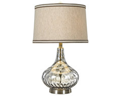 Transitional Florence Stone Pattern Light Blue Glass Table Lamp contemporary table lamps