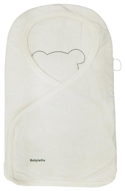 Snuggle Wrap, Cream Heathered Stripes modern-baby-bedding