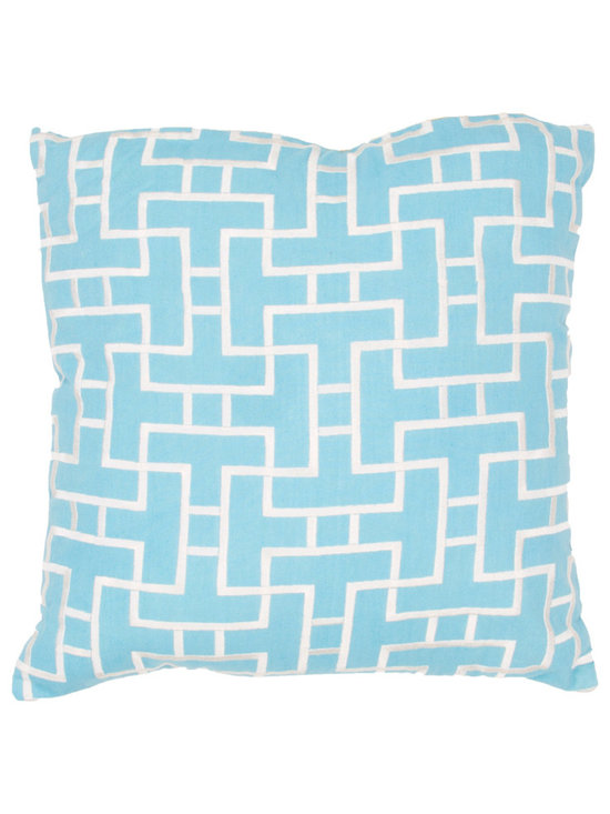 Jaipur - Modena Pillow, Blue Set of 2 - Funky range of pillows in poly dupione use rich jewel tones expressed in a highly textural and fun way. Perfect for a touch of retro glamour in your home.