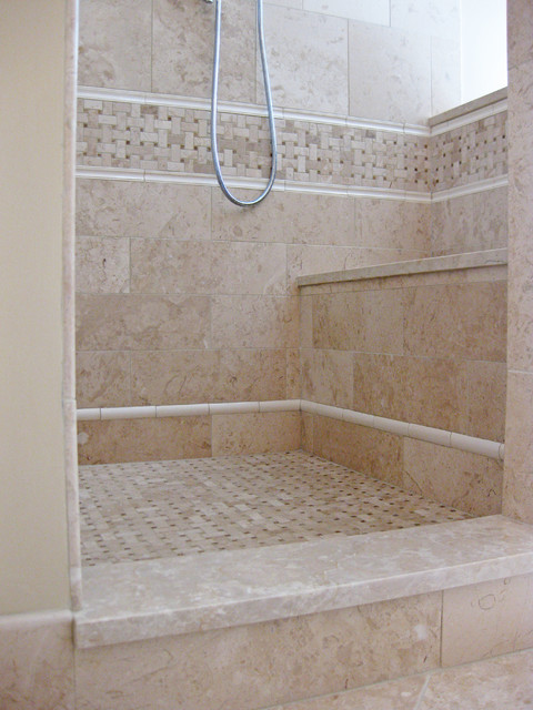 Bathroom Shower With No Door Traditional Charleston By Sea Island Builders LLC
