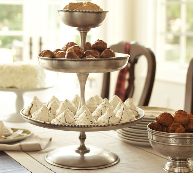 ... Silver Tiered Stand - Traditional - Serveware - by Pottery Barn