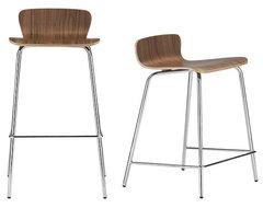 Felix Walnut Bar Stool/Counter Stool | Crate and Barrel modern-bar-stools-and-counter-stools