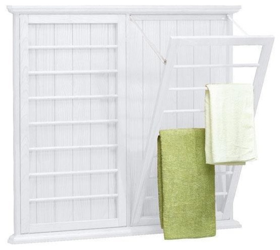 madison wall mounted laundry drying rack   traditional