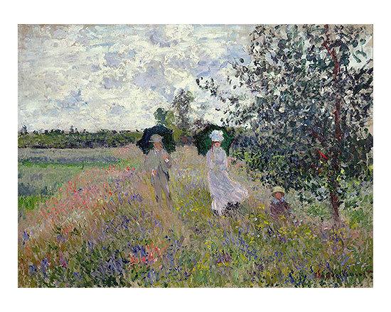 Promenade near Argenteuil | Monet | Painting Reproduction -