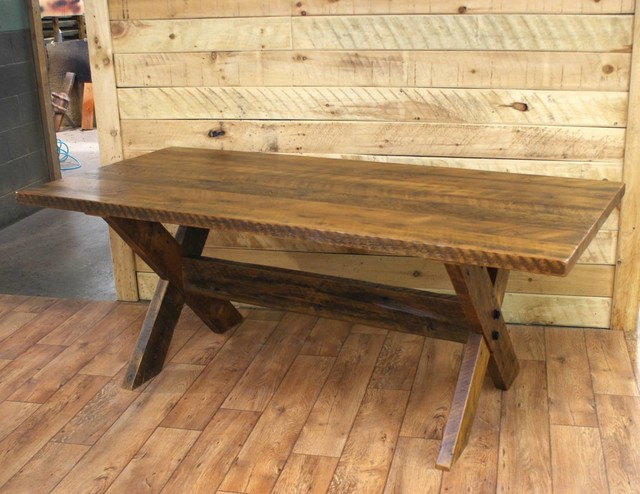 Reclaimed Wood Dining Room Tables Rustic Dining Tables Other Metro By