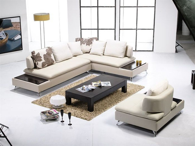 Luxurious Italian Leather Living Room Furniture Contemporary Sectional So