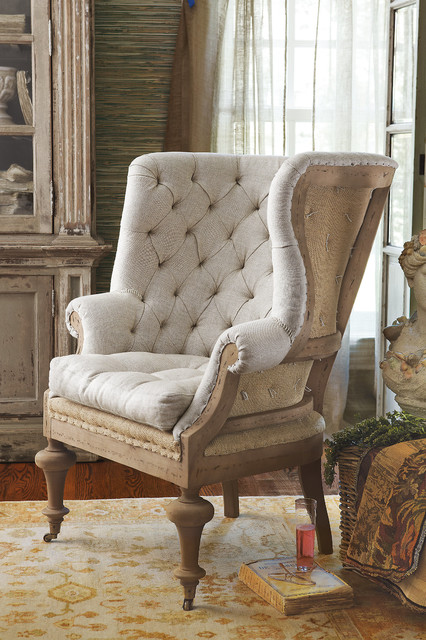 Fontaine Wingback Chair Rustic Armchairs And Accent
