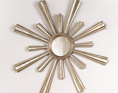 Jackie Silver Leaf Starburst Mirror contemporary mirrors