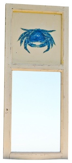 Blue Crab Mirror eclectic-wall-mirrors