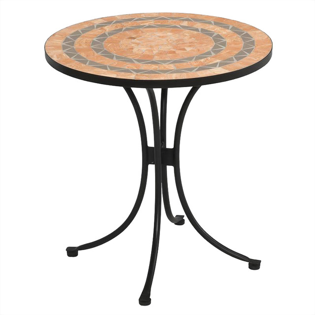 Home Styles Terra Cotta Bistro Table in Terra Cotta transitional-indoor-pub-and-bistro-sets