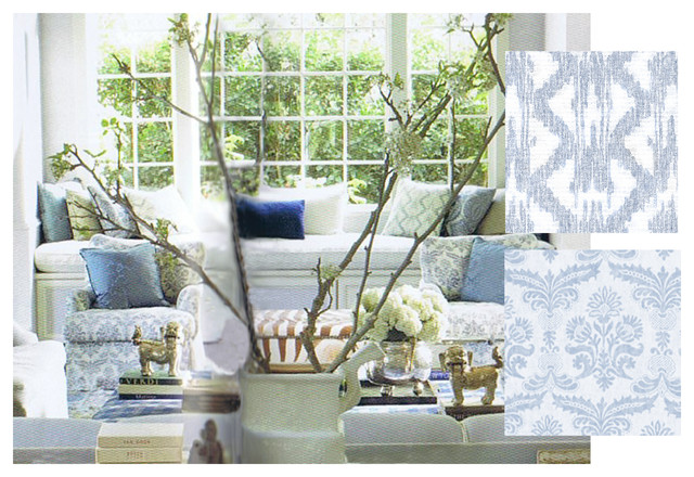 Veranda Magazine Traditional Upholstery Fabric other