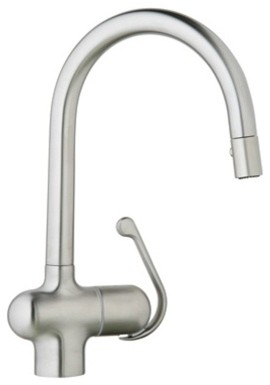 Grohe 32 245 SDE Ladylux WaterCare Pro Main Sink Dual Spray Pull-Down Kitchen Fa contemporary-kitchen-faucets