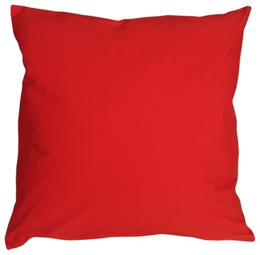Pillow Decor - Caravan Cotton Red 16 x 16 Throw Pillow contemporary-decorative-pillows