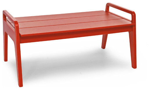 No. 9 Cocktail Table, Apple Red contemporary-outdoor-coffee-tables
