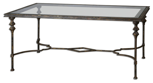 Quillon Glass Coffee Table Traditional Coffee Tables By Fratantoni Lifestyles
