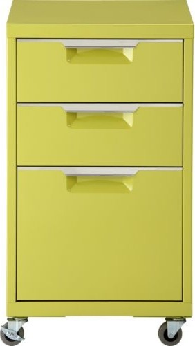 TPS chartreuse file cabinet  Modern  Filing Cabinets  by CB2
