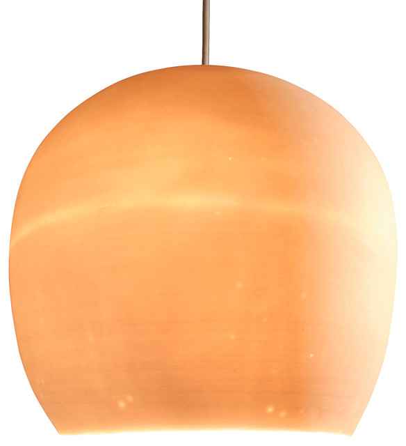 Claylight 8'' Symmetrical Pendant, Porcelain modern-pendant-lighting