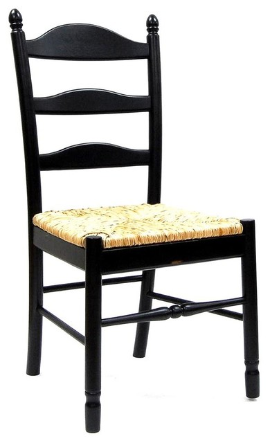 Ladder Back Dining Chair W Rush Seat Traditional
