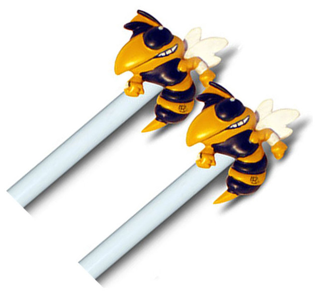 ncaa georgia tech yellow jacket curtain finials rod set modern curtain