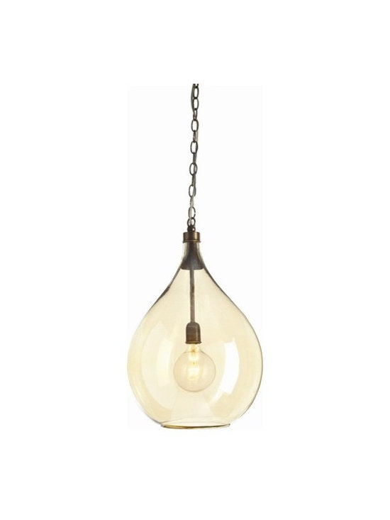 Arteriors Raleigh Glass/Brass Pendant - Raleigh Glass/Brass Pendant