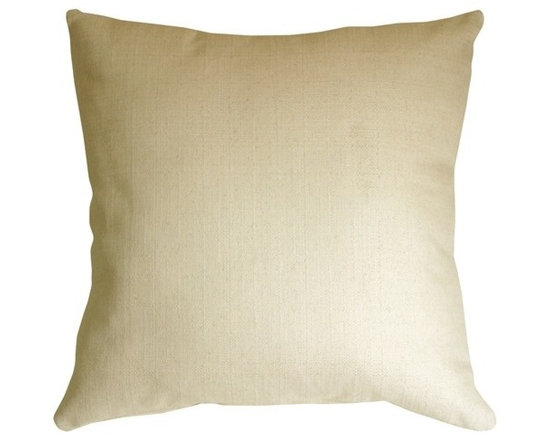 "Pillow Decor - Pillow Decor - Cream Broad Weave 24 x 24 Throw Pillow - This solid cream color pillow is made from a sturdy cotton-linen blend broad weave fabric. It's generous 24"" x 24"" size makes it ideal for large sofas and sectionals. You'll love the texture and feel of these heavy broadweave throw pillows."