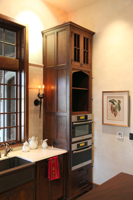 English Kitchen Tower traditional-kitchen-cabinetry