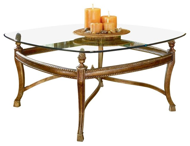 Hammary Suffolk Bay Square 2-Piece Glass Top Cocktail