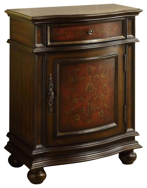 Monarch Specialties Traditional Bombay Chest in Cherry - Traditional - Accent Chests And Cabinets
