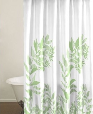City Scene Tokyo Leaf Shower Curtain modern shower curtains