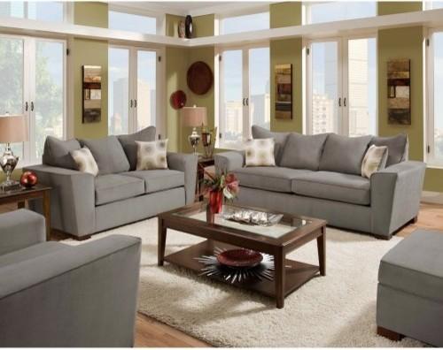 Chelsea Home Passaic Sofa and Loveseat Set - Noble Concrete modern-sofas