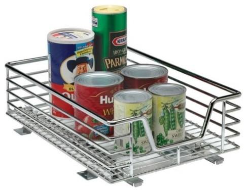 Household Essentials C1217-1 11.5 inch Sliding Organizer-Chrome Single Pack modern-kitchen-drawer-organizers