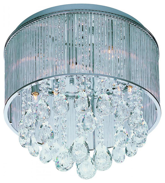 Xenon Ceiling Lights : Gala xenon drum shade flush mount with a contemporary