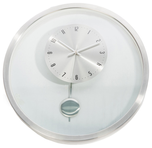 hsn 20 inch kartell mid century modern pendulum wall clock contemporary clocks by. Black Bedroom Furniture Sets. Home Design Ideas