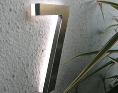 """Modern Led House Number 5"""" Outdoor By Luxello LED modern-house-numbers"""