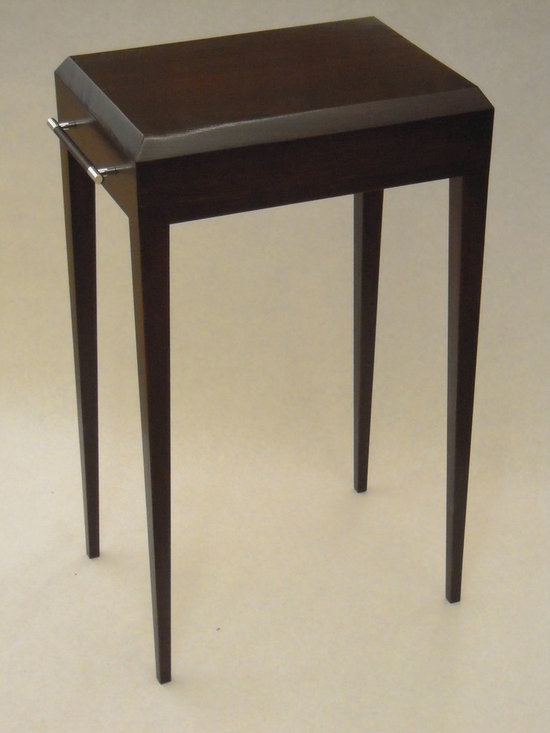 Carlton Tea Table - Art | Harrison Collection - Small accent table with handles at each side.