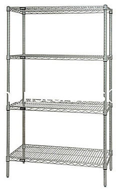 Wire Shelving traditional-closet-organizers