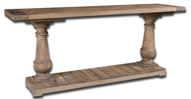 Reclaimed Wood Sofa Table Stratford Recycled Fir rustic-console-tables