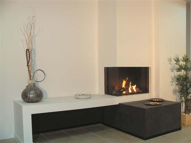 Ortal Clear 70 RSLS Fireplace Modern Living Room