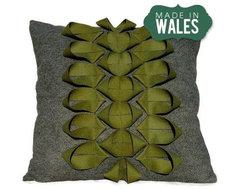 Origami ScandiStem Applique Recycled Felt Cushion modern-decorative-pillows