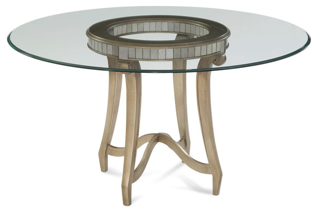 Bassett mirror hollywood glam celine dining table for Glam dining table