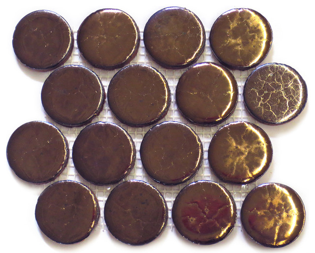 Bronze Penny Rounds industrial-tile